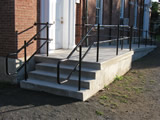 Two-Line Pipe Stair and ADA Ramp Handrails