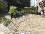 Curved Wrought Iron Patio Fence