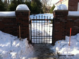 Arched Wrought Iron Gate With Spear Finials