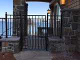 Black Galvanized Gate And Side Panels