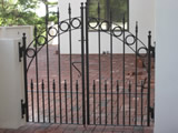 Patio Gate With Circles And Finials