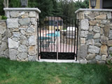 Pool Gate With Embossed Panel