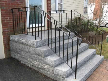 Colonial Iron Works - Iron Exterior Handrails on modern railings exterior, iron handrails exterior, steel railings exterior, stainless steel handrails exterior, wooden railings exterior, deck railings exterior, doors exterior,