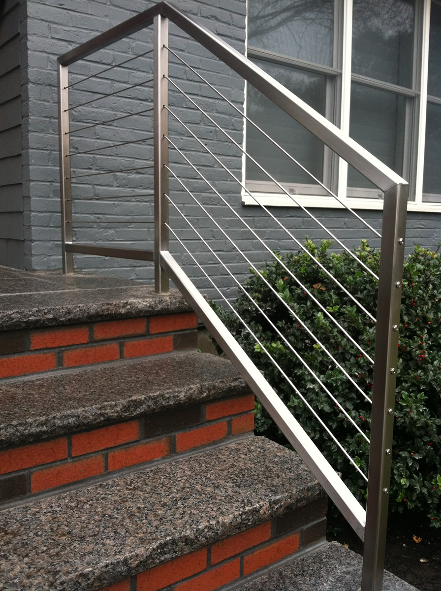 Colonial Iron Works - Iron Exterior Handrails on exterior steel stairs, exterior metal spiral stairs, residential exterior metal stairs, aluminum outside railings for stairs, iron hand railings for stairs, outdoor iron railings for stairs, wood handrails for stairs,