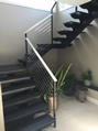 Custom Steel Stair With Stainless Cable Rails