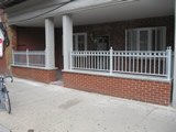 Brick Wall Guardrails With Powdercoat Finish
