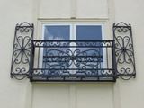 Wrought Iron Shutters And Juliet Balcony